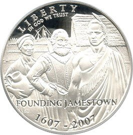 Image of 2007-P Jamestown $1 PCGS Proof 70 DCAM