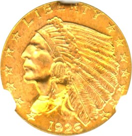 Image of 1926 $2 1/2 NGC MS65