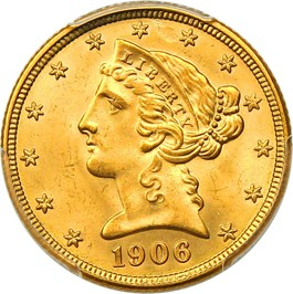 Image of 1906-D $5 PCGS MS66