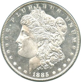 Image of 1885 $1 PCGS/CAC MS65 DMPL