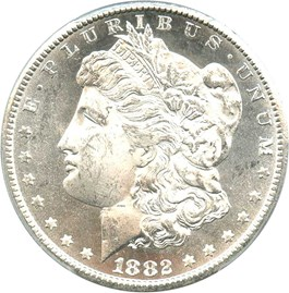 Image of 1882-CC $1 PCGS/CAC MS64+ PL