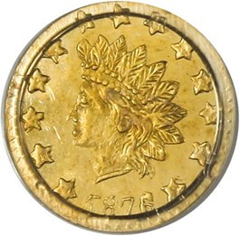 Image of California Gold: 1876/5 50c PCGS MS64 (BG-1059)