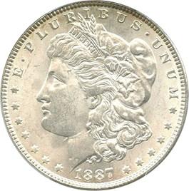 Image of 1887 $1 PCGS MS64