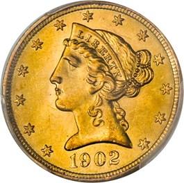 Image of 1902-S $5 PCGS MS65