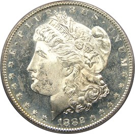 Image of 1882-S $1 PCGS MS64 PL
