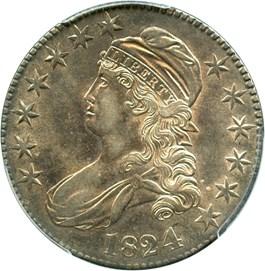 Image of 1824/4 50c PCGS AU55