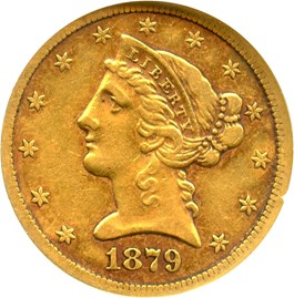 Image of 1879-CC $5 NGC VF30