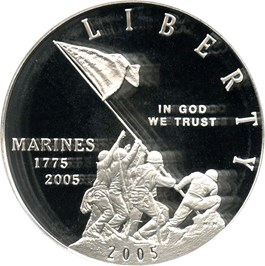 Image of 2005-P Marine Corps $1 PCGS Proof 69 DCAM