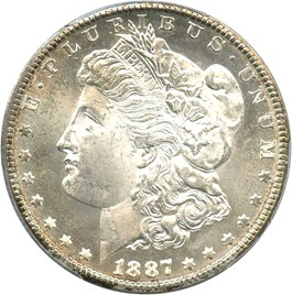 Image of 1887-S $1 PCGS MS64