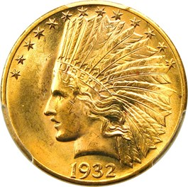Image of 1932 $10 PCGS MS64