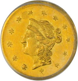 Image of California Gold: 1870 50c PCGS MS63 (BG-1047)