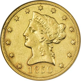 Image of 1850-O $10 NGC XF45  - Scarce New Orleans Gold Eagle