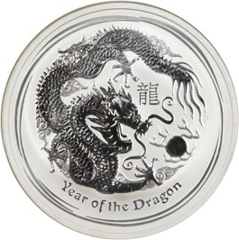 Image of Australia: 2012-P Dragon $1 NGC MS70 (Early Releases, 1 oz. Silver)