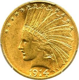 Image of 1914-D $10 PCGS AU58