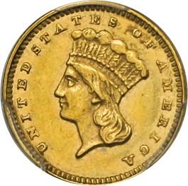 Image of 1876 G$1 PCGS/CAC AU55