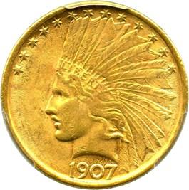 Image of 1907 $10 PCGS MS63 (No Motto)