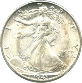 Image of 1943-D 50c PCGS MS67