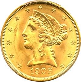Image of 1906 $5 PCGS MS65