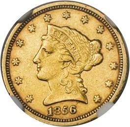 Image of 1856-C $2 1/2 NGC AU53