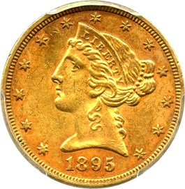 Image of 1895 $5 PCGS MS61