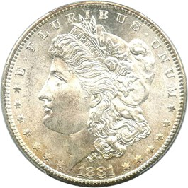 Image of 1881-S $1 PCGS/CAC MS67