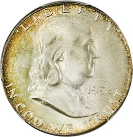 Image of 1952-S 50c PCGS/CAC MS67