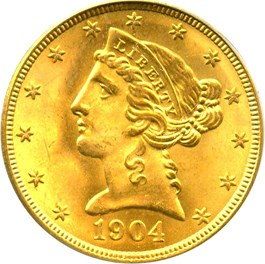 Image of 1904 $5 PCGS MS66