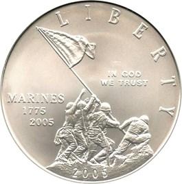 Image of 2005-P Marine Corps $1 PCGS MS69