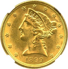 Image of 1899-S $5 NGC MS63