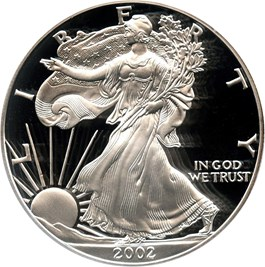 Image of 2002-W Silver Eagle $1 PCGS Proof 69 DCAM