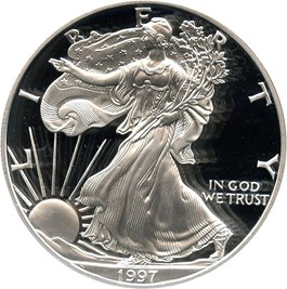 Image of 1997-P Silver Eagle $1 PCGS Proof 69 DCAM