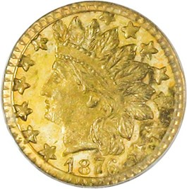Image of California Gold: 1876 25c PCGS MS65 (BG-881)