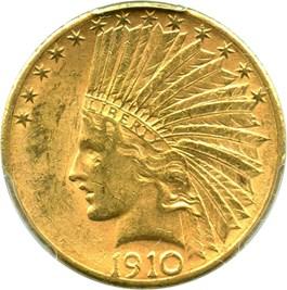 Image of 1910-S $10 PCGS AU58