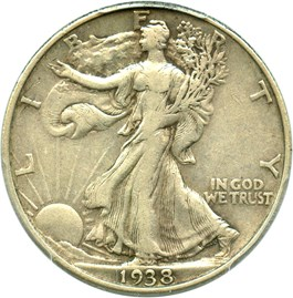 Image of 1938-D 50c PCGS/CAC XF40