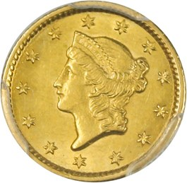 Image of 1853-O G$1 PCGS MS62
