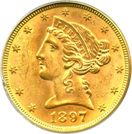 Image of 1897 $5 PCGS MS64