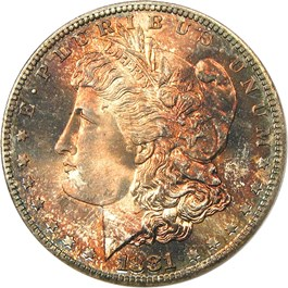 Image of 1881-S $1 PCGS/CAC MS68