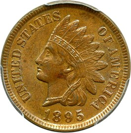 Image of 1895 1c PCGS MS63 BN