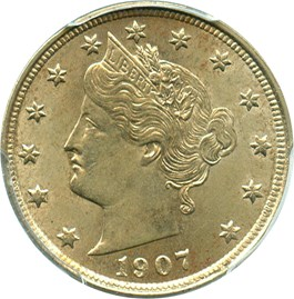 Image of 1907 5c PCGS MS64