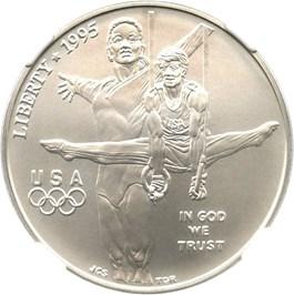 Image of 1995-D Olympic Gymnastics $1 NGC MS70