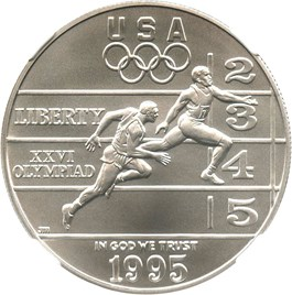 Image of 1995-D Olympic Track & Field $1 NGC MS70