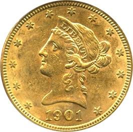 Image of 1901 $10 PCGS AU55