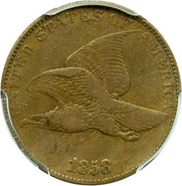 Image of 1858 Flying Eagle 1c PCGS VF30 (Large Letters)