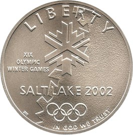 Image of 2002-P Salt Lake City Olympics $1 NGC MS70