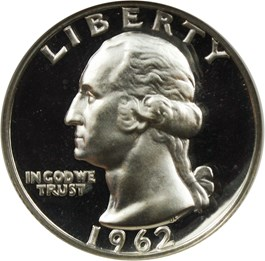 Image of 1962 25c NGC Proof 68 DCAM