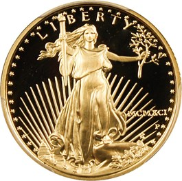 Image of 1991-P Gold Eagle $10 PCGS Proof 69 DCAM
