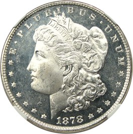 Image of 1878 7TF $1 NGC MS65 DMPL (Reverse of 1878)