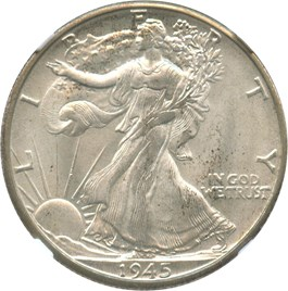 Image of 1945-D 50c NGC/CAC MS66 (Newman Collection)