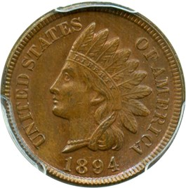 Image of 1894 1c PCGS MS64 BN