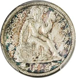 Image of 1853 10c PCGS AU55 (Arrows)